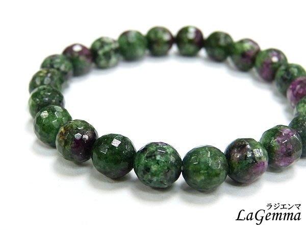 【寶峻水晶】紅綠寶石手鍊/手珠,紅寶石+綠寶石10mm,角珠/圓珠2選1,繁榮興盛的能量