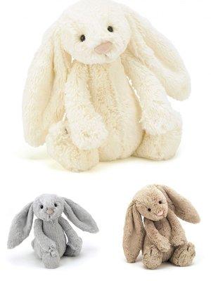 [小珊瑚]英國購入正品 31cm JELLYCAT 邦尼兔 安撫兔 Bashful Bunny Medium 絨毛安撫