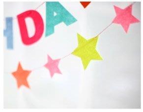 彩色小星星毛氈拉旗 生日派對裝飾聖誕樹裝飾幼兒園公司佈置道具拍攝party派對裝飾 台南市