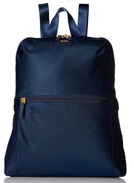 【小麥的店】美國 TUMI Just in Case 輕便後背包 可折疊 旅行 逛街 採購 深藍色-