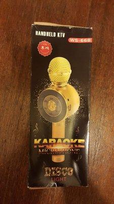 全新未使用 娃娃機夾到藍芽無線麥克風 WS-668麥克風手機k歌寶 無線藍牙話筒音響 電容麥克風k歌專用唱吧
