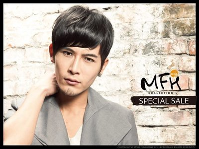MFH韓國男生髮片─斜瀏海髮片【E04...