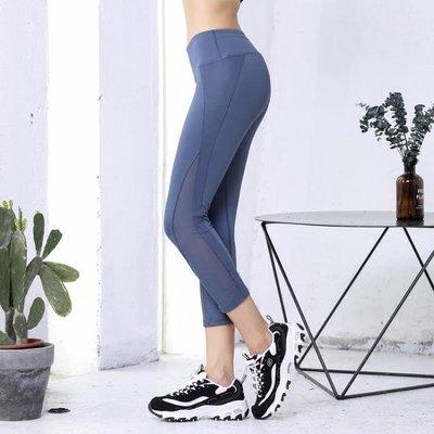 健身褲女彈力緊身七分褲翹臀顯瘦動感單車跑步壓縮速干瑜伽7分褲