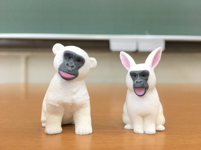 【動漫瘋】 日本正版 代理 轉蛋 扭蛋 猩猩臉動物大集合 單售 猴子  [ 非 戽斗動物園]