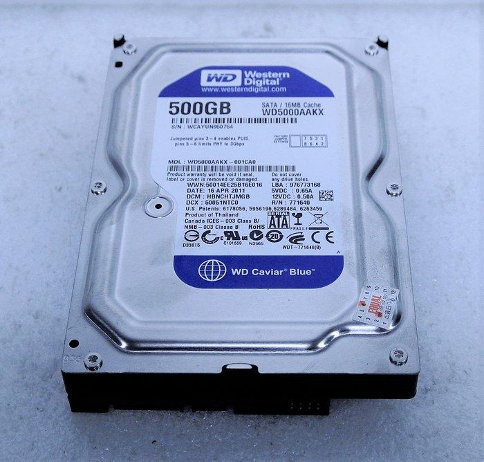 ~ 駿朋電腦 ~ 3.5吋 WD5000AAKX 500G SATA/16MB 桌上型硬碟 測試正常 $300