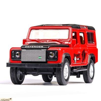 ∞Anime∞1/32仿真路虎衛士硬漢越野車合金回力聲光模型小汽車兒童玩具