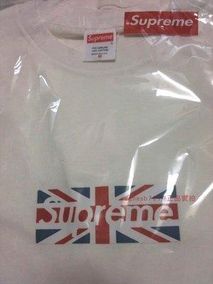 全新正品聯名國旗 Supreme UK box logo 英國國旗 短袖T恤