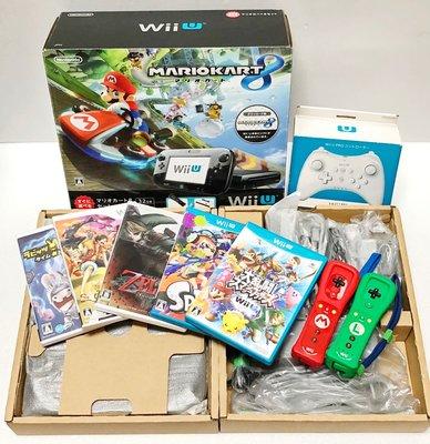 Wii U 瑪利歐賽車8同捆 限量主機黑色 32G 限量版、遊戲*9,可支援玩Wii 遊戲 出售