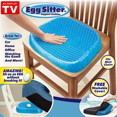 [送防塵套] Egg Sitter 涼感凝膠椅墊 凝膠坐墊 多功能凝膠座墊 蜂巢式減壓 雞蛋坐墊 坐墊【RS820】