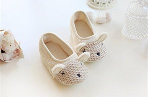 兒童{{小羊}}羊糕絨保暖防滑室內拖鞋