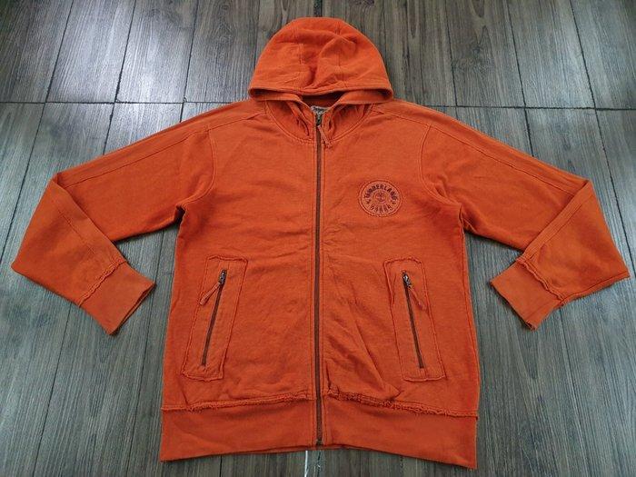 TIMBERLAND 橙色 鋪棉 連帽外套 (M)  (一元起標 無底價)
