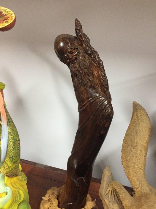 黃花梨雕壽翁