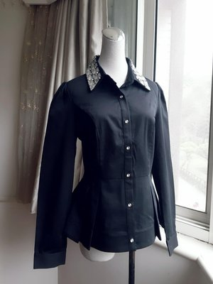 MOMA 閃鑽領彈性修身襯衫