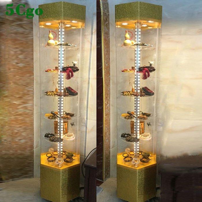 5Cgo【批發】含稅 手機模型樣品玻璃旋轉化妝品手錶牙模精品禮品亞克力首飾品珠寶展示櫃 534295656461