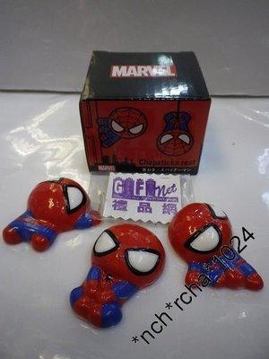 (現貨)約長4.7cm (1套3件發售) 3D立體 筷子座 Marvel 超級英雄 Spider-Man 蜘蛛俠 日本直送 全新品