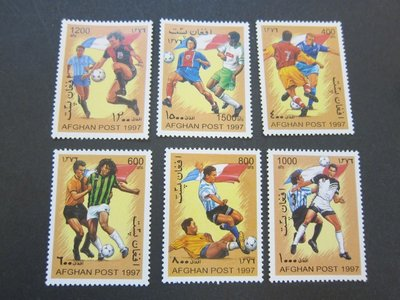 【雲品】阿富汗Afghanistan Football (not listed) set MNH 庫號#86284