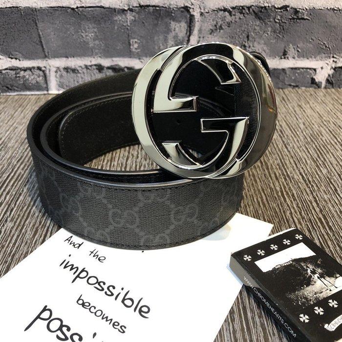 Gucci GG Supreme 帆布 腰帶 4厘米寬 預購 國外代購