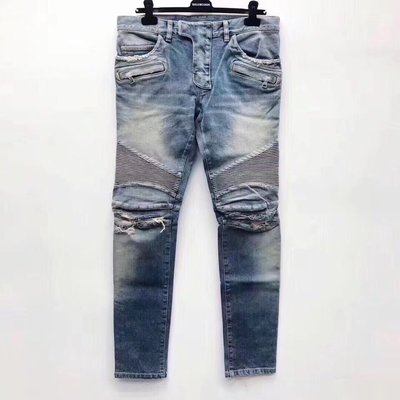 [4real]Balmain Biker 刀割牛仔褲