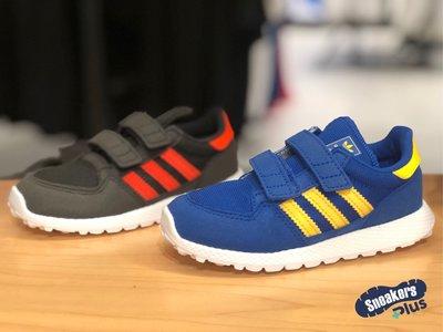 ➕sneakersplus➕ Adidas Forest Grove 小童鞋 網布 魔鬼氈 休閒運動 黑CG6854藍F34332
