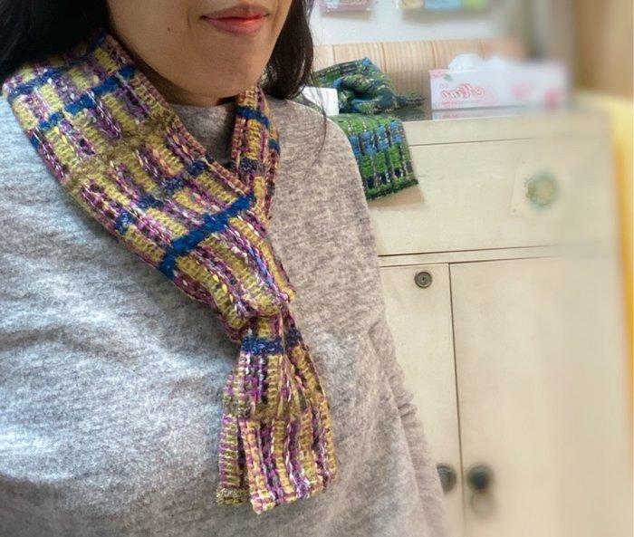 美家園日本生活館 日本帶回法國製 短圍巾 圍脖 E款