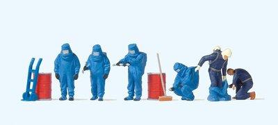 傑仲 (有發票) 博蘭 公司貨 Preiser 人物組 Firemen with blue 10729 HO