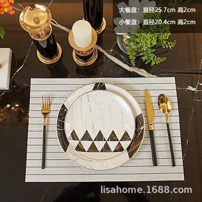 有一間店-歐式西餐盤牛排圓盤刀叉勺陶瓷餐具套裝 樣品房擺件 家用酒店(規格不同 價格不同)