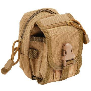 【TRENY直營】多功能腰包-卡其 迷彩包 背包 運動腰包 生存遊戲 水電工 1539-2