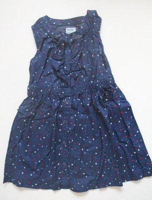 【二手商品】美國 old navy 滿版星星氣質款女童洋裝 -size:4T