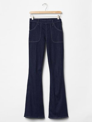 【天普小棧】GAP 1969 Resolution size-zip skinny flare jeans喇叭牛仔褲26
