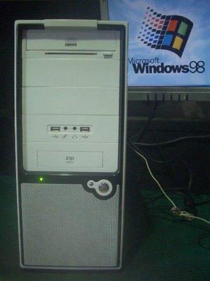 【窮人電腦】跑早期系統工業專用機!自組技嘉Win98電腦出清!外縣可寄送!