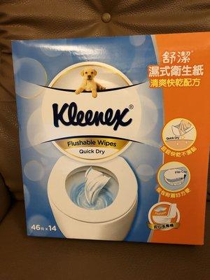 KLEENEX 舒潔濕式衛生紙一組46抽*14包    599元--可超商取貨付款
