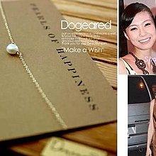 Dogeared 台北ShopSmart直營店 5MM 小白珍珠K金項鍊 生日情人節禮物 11週年慶限量