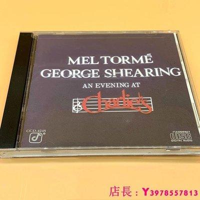 全新CD音樂 美未拆 MEL TORME GEORGE SHEARING AN EVENING AT CHARLIES CD
