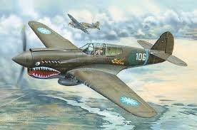 【TRUMPETER 02269】小號手 1/32 P-40E 戰鷹 戰鬥機 (含中華民國 早期國軍水貼)