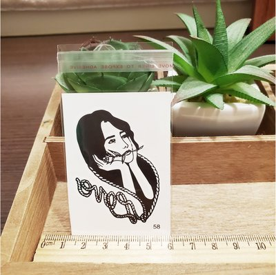 【萌古屋】百態人生58單圖 - 男女防水紋身貼紙刺青貼紙 K43