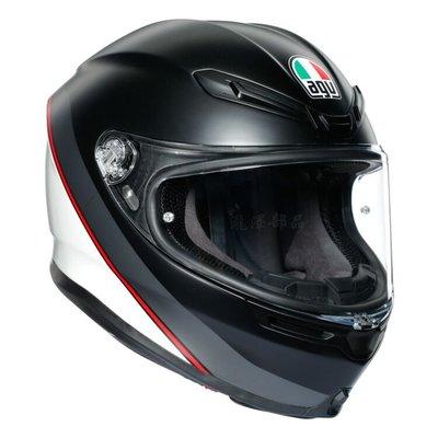 瀧澤部品 義大利 AGV K6 全罩安全帽 MINIMAL消光黑白 碳纖複合纖維 彩繪 K-6 亞洲版 透氣舒適 雙D扣