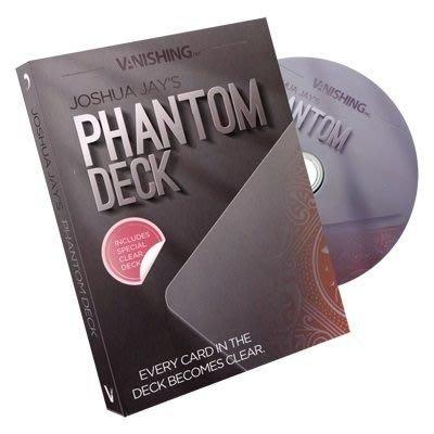 【意凡魔術小舖】[魔術魂道具Shop] 美國原廠Phantom Deck by Vanishing, Inc. 透明牌~~