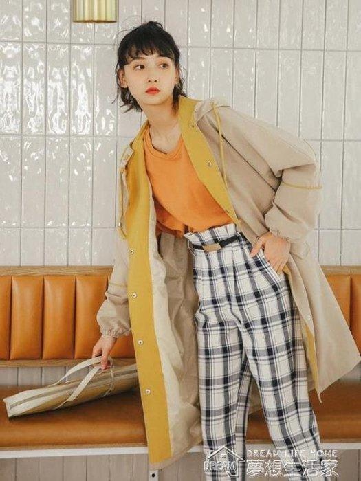 風衣女連帽外套女套秋季韓版學生百搭秋冬新款潮寬鬆加厚中長款風衣