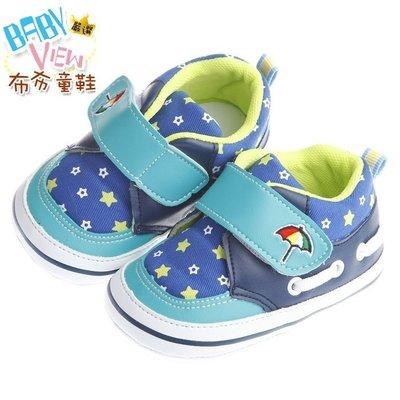 布布童鞋 ArnoldPalmer雨傘牌閃耀星星藍色寶寶學步鞋 [ MAQ265B ] 藍色款【13~16cm】 新北市