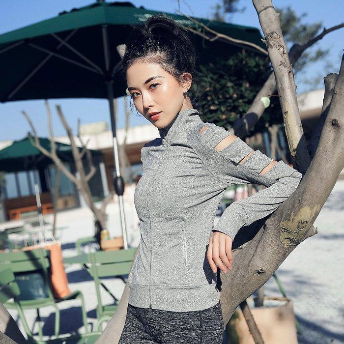 【路依坊】拉鏈外套 秋冬款 性感運動外套 瑜珈上衣 長袖跑步夾克 慢跑保暖外套 跑步 健身外套 推薦 A8343