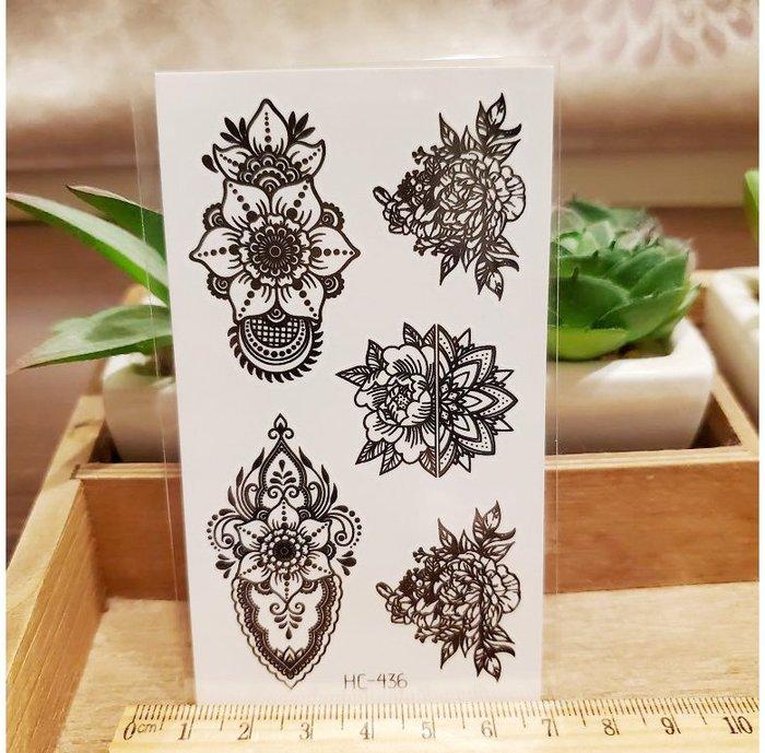【萌古屋】黑色小圖騰 - 男女防水紋身貼紙刺青貼紙HC-436