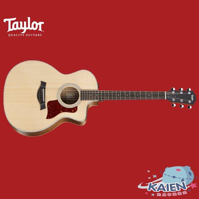 『凱恩音樂教室』免運分期 Taylor 專賣 214CE 面單 木吉他 西卡雲杉 墨西哥製 TLGF-214-CE