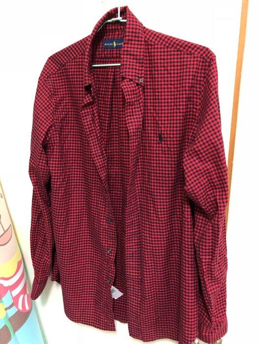 Ralph Lauren 羅夫羅倫 襯衫 純棉 紅格 經典款 超好看 polo