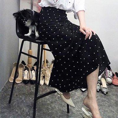 魚尾裙長裙 春夏顯瘦顯腰點點魚尾長裙 艾爾莎【TAE6766】
