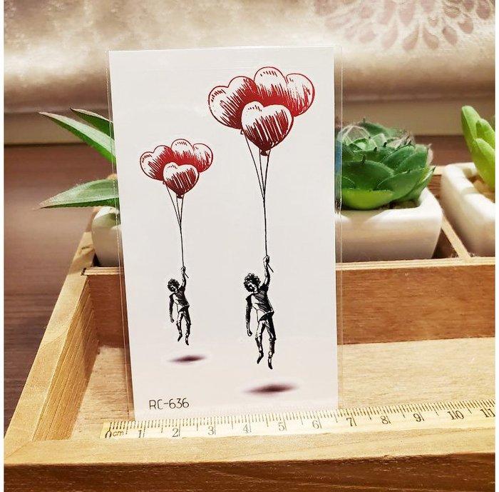 【萌古屋】愛心熊 - 男女防水紋身貼紙刺青貼紙RC-636