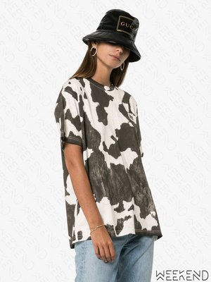 【WEEKEND】 BURBERRY Carrick 動物斑紋 短袖 T恤 上衣 灰色 19秋冬