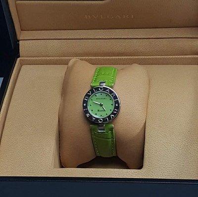 BVLGARI 寶格麗 B.zero1系列 BZ22S  綠色貝母面腕錶
