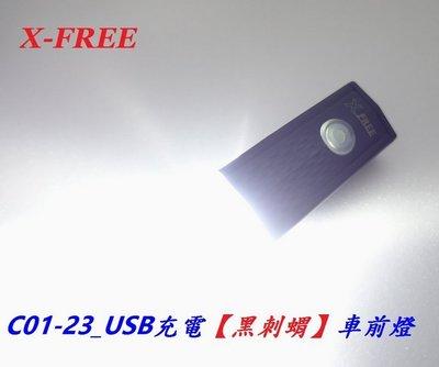 《意生》USB充電【黑刺蝟】車前燈 U...