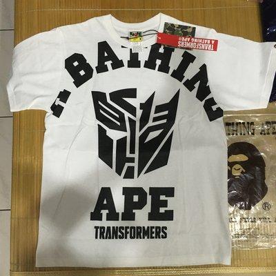 A BATHING APE X Transformers COLLEGE TEE BAPE 變形金剛 聯名