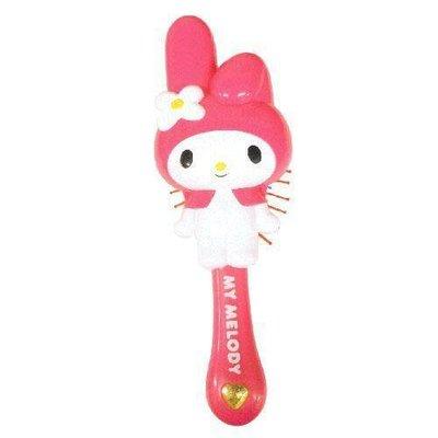 【小糖雜貨舖】日本進口 Melody 桃紅色 美樂蒂 整理頭髮 按摩 梳子 粉色 愛心寶石